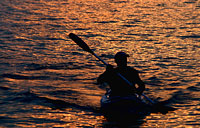 Sunset Kayak: copyright Michael Land Photography
