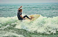 Nantucket Surfer I: copyright Michael Land Photography